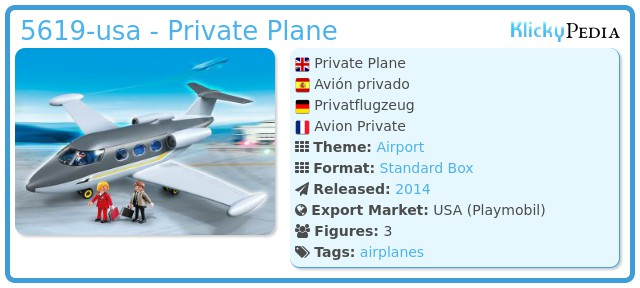 Playmobil 5619-usa - Private Plane