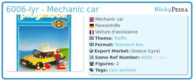 Playmobil 6006-lyr - Mechanic car