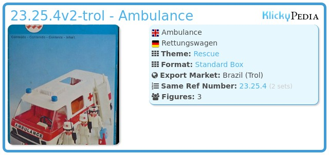 Playmobil 23.25.4v2-trol - Ambulance