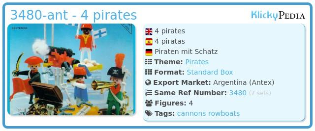 Playmobil 3480-ant - 4 pirates
