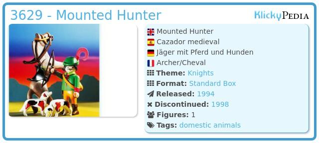 Playmobil 3629 - Mounted Hunter