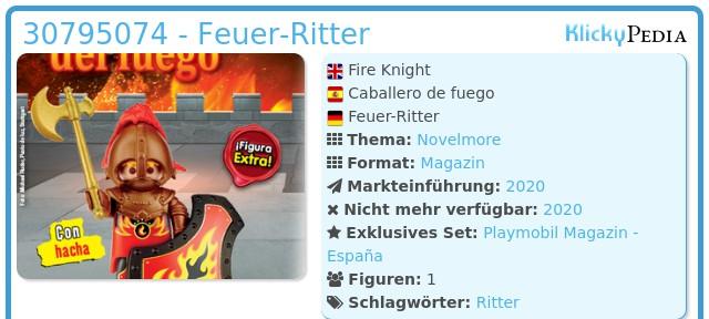 Playmobil 30795074 - Fire Knight
