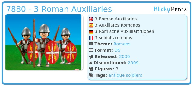 Playmobil 7880 - 3 Roman Auxiliaries