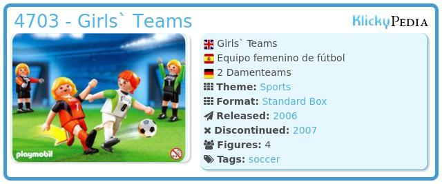 Playmobil 4703 - Girls` Teams