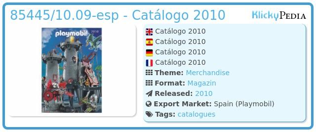 Playmobil 85445/10.09-esp - Catálogo 2010