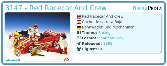 Playmobil 3147 - Red Racecar And Crew