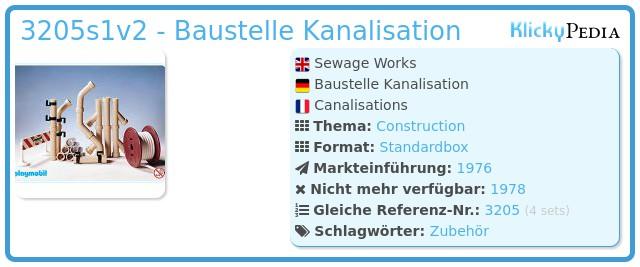 Playmobil 3205v2 - Baustelle Kanalisation