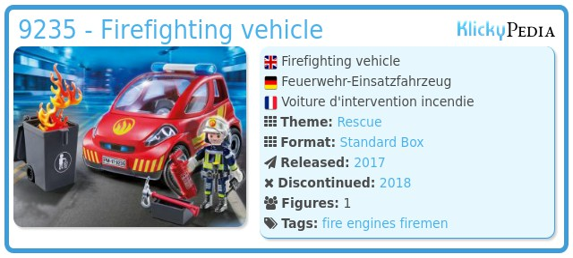 Playmobil 9235 - Firefighting vehicle
