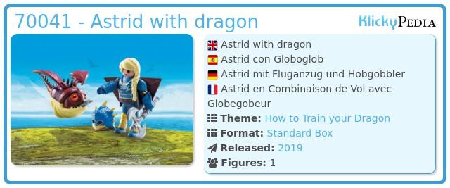 Playmobil 70041 - Astrid with dragon