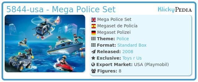 Playmobil 5844-usa - Mega Police Set