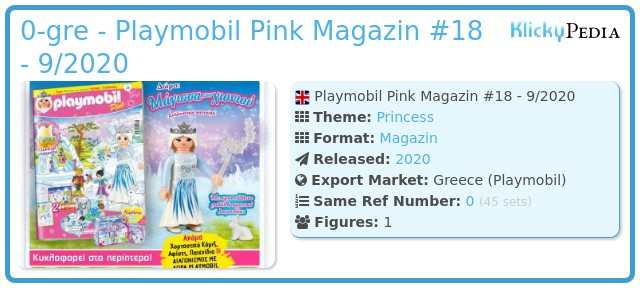 Playmobil 0-gre - Playmobil Pink Magazin #18 - 9/2020