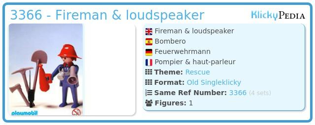 Playmobil 3366 - Fireman & loudspeaker