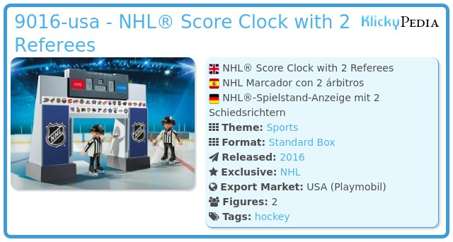 Playmobil 9016-usa - NHL® Score Clock with 2 Referees