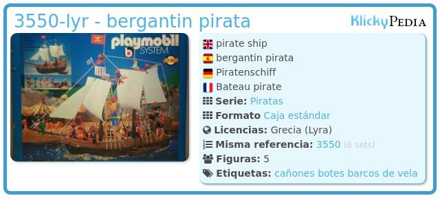 Playmobil 3550-lyr - bergantin pirata