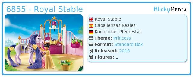 Playmobil 6855 - Royal Stable