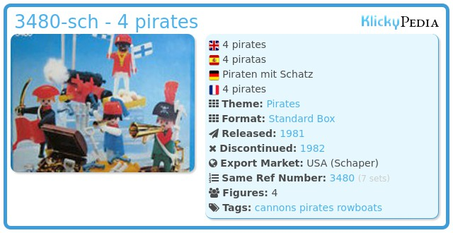 Playmobil 3480-sch - 4 pirates