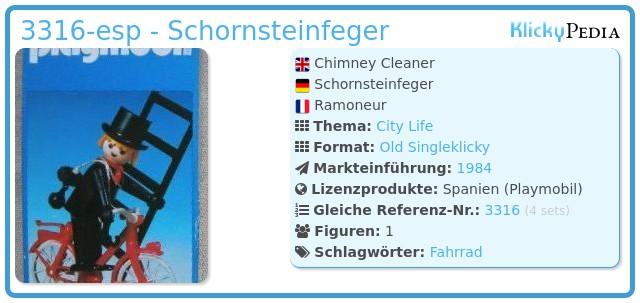 Playmobil 3316-esp - Schornsteinfeger