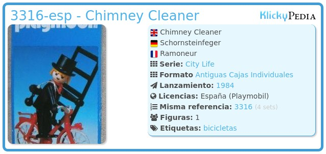 Playmobil 3316-esp - Chimney Cleaner