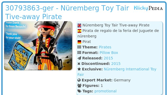 Playmobil 30793863-ger - Nüremberg Toy Tair Tive-away Pirate