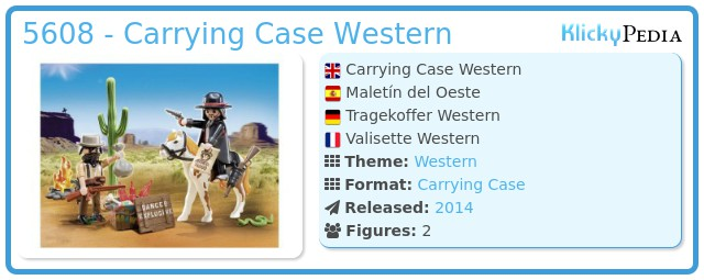Playmobil 5608 - Carrying Case Western