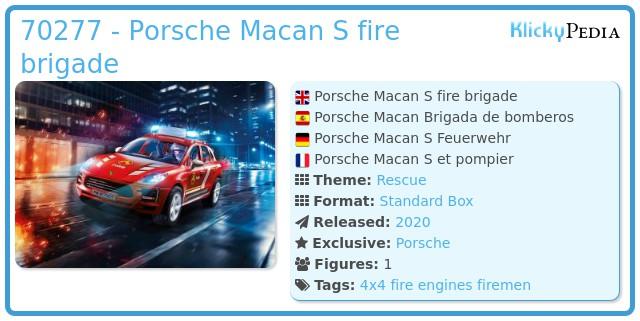 Playmobil 70277 - Porsche Macan S fire brigade