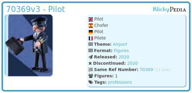 Playmobil 70369v3 - Pilot
