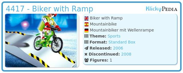 Playmobil 4417 - Biker with Ramp
