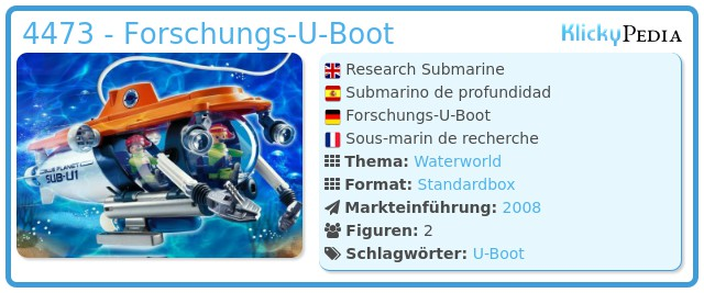Playmobil 4473 - Forschungs-U-Boot