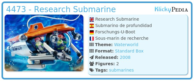 Playmobil 4473 - Research Submarine