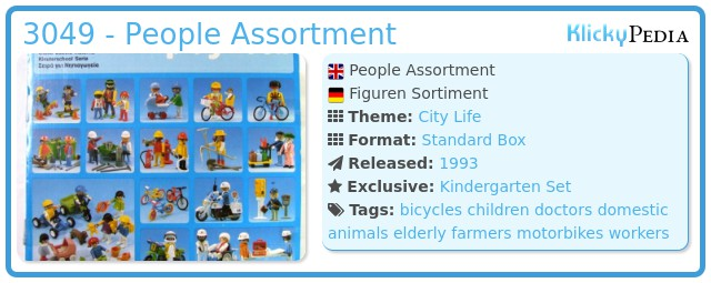 Playmobil 3049 - People Assortment