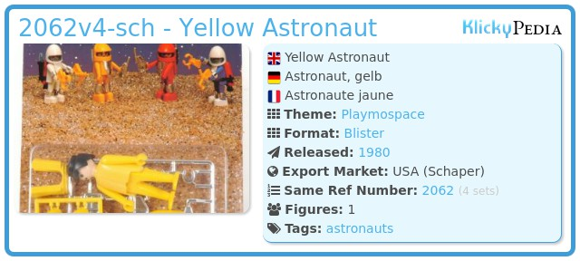 Playmobil 2062v4-sch - Yellow Astronaut
