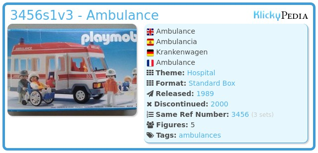 Playmobil 3456s1v3 - Ambulance