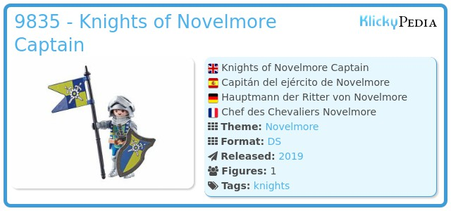 Playmobil 9835 - Captain of the Knights of Novelmore