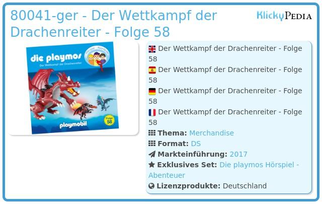 Playmobil 80041 - Der Wettkampf der Drachenreiter - Folge 58