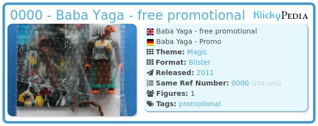 Playmobil 0000 - Baba Yaga - free promotional
