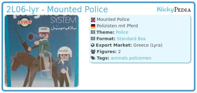Playmobil 2L06-lyr - Mounted Police