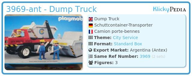 Playmobil 3969-ant - Dump Truck