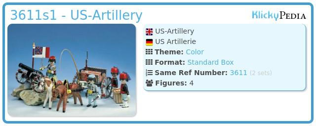 Playmobil 3611s1 - US-Artillery