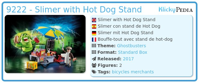 Playmobil 9222 - Slimer with Hot Dog Stand