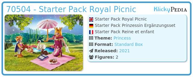 Playmobil 70504 - Starter Pack Royal Picnic