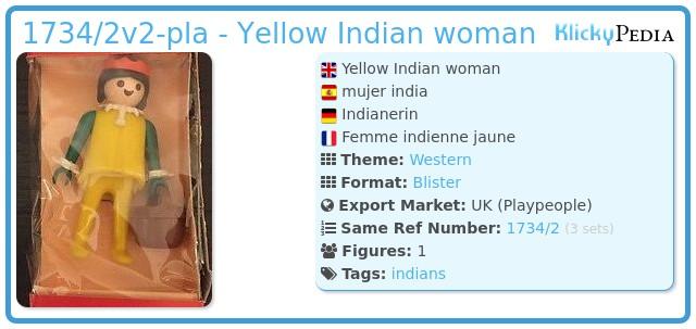 Playmobil 1734/2v2-pla - Indian woman