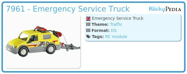 Playmobil 7961 - Emergency Service Truck