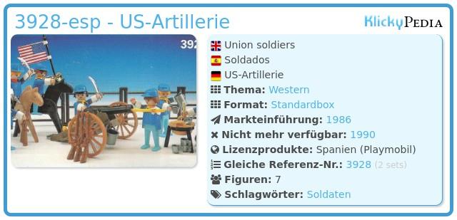 Playmobil 3928-esp - US-Artillerie
