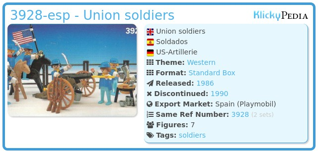 Playmobil 3928-esp - Union soldiers