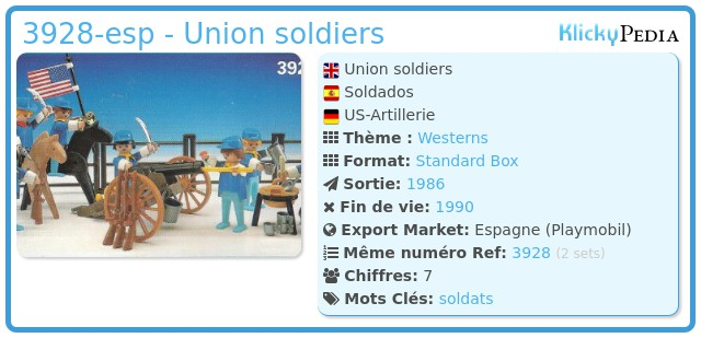 Playmobil 3928-esp - Union soldiers