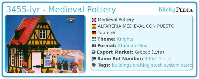 Playmobil 3455-lyr - Medieval Pottery