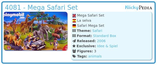 Playmobil 4081 - Mega Safari Set