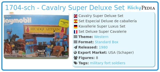 Playmobil 1704-sch - Cavalry Super Deluxe Set