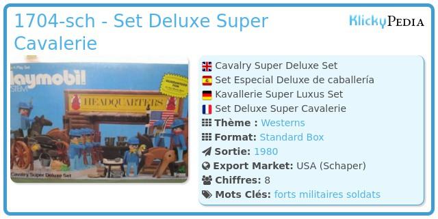 Playmobil 1704-sch - Set Deluxe Super Cavalerie