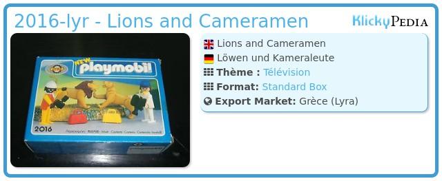 Playmobil 2016-lyr - Lions and Cameramen
